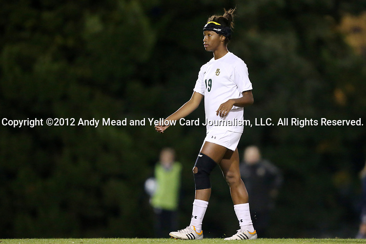 16 November 2012: Baylor's Anjadai Seals. The Baylor University Bears played the Georgetown University Hoyas at Fetzer Field in Chapel Hill, North Carolina in a 2012 NCAA Division I Women's Soccer Tournament Second Round game. Baylor won the game 2-1 in overtime.