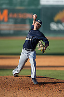 Wingate Bulldogs relief pitcher Alex Rodriguez (22) in action against the Catawba Indians at Newman Park on March 19, 2017 in Salisbury, North Carolina.  The Indians defeated the Bulldogs 12-6.  (Brian Westerholt/Four Seam Images)