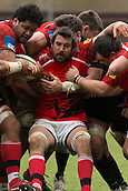 28.02.2015.  Oxford, England.  Aviva Premiership. London Welsh versus London Irish.   Matt Corker (C)  in the middle of a maul.