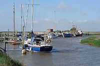 Boats on Cow Bank Drain, Gibralta Point, Skegness, Lincolnshire