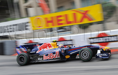 Australian driver Mark Webber of Red Bull Racing enters a turn during the 2010 Formula 1 Grand Prix of Monaco held in the street circuit of Monte Carlo, Monaco, 16 May 2010. Australia's Webber of Red Bull Racing won the prestigious Grand Prix ahead of German team-mate Vettel and Poland's Kubica of Renault F1.