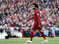 Liverpool's Mohamed Salah<br /> <br /> Photographer Rich Linley/CameraSport<br /> <br /> The Premier League - Liverpool v Manchester City - Sunday 7th October 2018 - Anfield - Liverpool<br /> <br /> World Copyright &copy; 2018 CameraSport. All rights reserved. 43 Linden Ave. Countesthorpe. Leicester. England. LE8 5PG - Tel: +44 (0) 116 277 4147 - admin@camerasport.com - www.camerasport.com