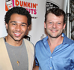 Corbin Bleu and Jeremy Kushnier.backstage at the New York Musical Theatre Festival at the NYMF Hub in Times Square, New York on 7/3/2012.