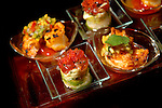 A tray of hors d'oeuvres.<br />