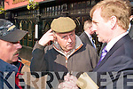 TOUGH TALK: Fine Gael Leader Enda Kenny meets some of Killarney's jarveys during a visit to Kerry on Friday last.