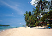 Thailand, island Ko Samui, Chaweng Beach's northern part - quiet and nice