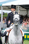 Andrew Nicholson during day 2 of the dressage phase at the 2012 Land Rover Burghley Horse Trials in Stamford, Lincolnshire,UK.
