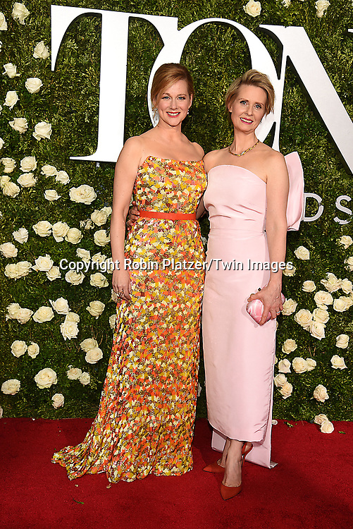 Laura Linney and Cynthia Nixon attend the 71st Annual  Tony Awards on June 11, 2017 at Radio City Music Hall in New York, New York, USA.<br /> <br /> photo by Robin Platzer/Twin Images<br />  <br /> phone number 212-935-0770