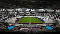 General view of the Olympic Stadium, home of West Ham United Football Club ahead of during the Premier League match between West Ham United and Manchester City at the London Stadium, London, England on 10 August 2019. Photo by David Horn.