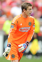 Philadelphia Union goalkeeper Zac MacMath (18) D.C. United tied The Philadelphia Union 1-1 at RFK Stadium, Saturday August 19, 2012.