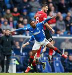 16.03.2019 Rangers v Kilmarnock: Jermain Defoe and Gary Dicker