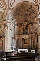 Europe/Espagne/Guipuscoa/Pays Basque/Saint-Sébastien: La basilique Santa María est une impressionnante œuvre baroque du XVIIIe siècle, Retable baroque