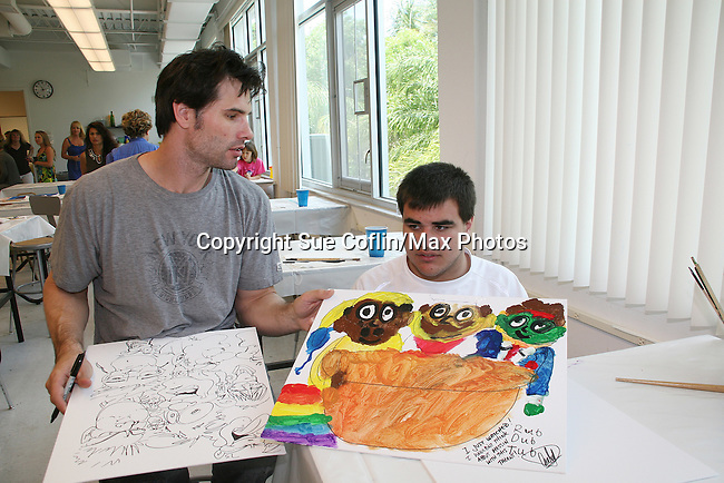As The World Turns' Austin Peck donates his time at the 12th Annual SoapFest - Painting Party to benefit Marco Island YMCA, theatre program & Art League of Marco Island on May 15, 20010 on Marco Island, FLA. (Photo by Sue Coflin/Max Photos)