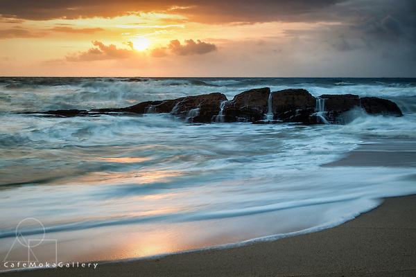 Sunrise at Guyamara Bay, east coast, Trinidad