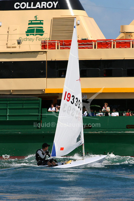 Laser class at the Sydney International Regatta 2008..Held annually the Sydney International Regatta (SIRs)  has been categorized by ISAF as a Grade 1 event of the Laser, Laser Radial, Finn, 470, 49er and RS:X. A Grade 2 event for the Ynglings, however this year will include the Yngling Australian Championships..Other classes invited include the Moth, 420, 29er Laser 4.7 and the A Class Catamaran. This year the A Class Catamaran is holding their World Championships at Belmont, NSW and the SIRs will be a Pre Worlds regatta for the Class.  Entries are restricted to 25 and A Class competitors are invited to enter through their association.