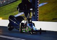 Jun. 15, 2012; Bristol, TN, USA: NHRA top fuel dragster driver Hillary Will during qualifying for the Thunder Valley Nationals at Bristol Dragway. Mandatory Credit: Mark J. Rebilas-