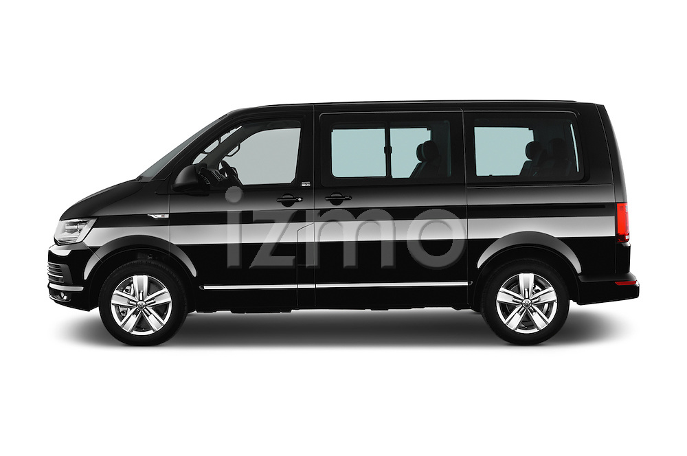 Car Driver side profile view of a 2016 Volkswagen Multivan Comfortline BMT 5 Door Passenger Van Side View