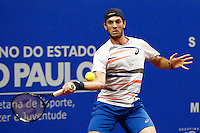SAO PAULO, SP, 23.11.2014  TORNEIO ATP CHALLENGER TOUR FINALS.   O tenista brasileiro Guilherme Clezar durante partida válida pela final do torneio de tênis ATP Challenger Tour Finals que acontece na tarde de domingo (23) no Esporte Clube Pinheiros. (Foto: Adriana Spaca / Brazil Photo Press)