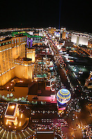View looking down The Strip at night, Las Vegas, Clark County, NV