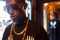 23-year-old Kenyan hip-hop artist Octopizzo in Kibera.
