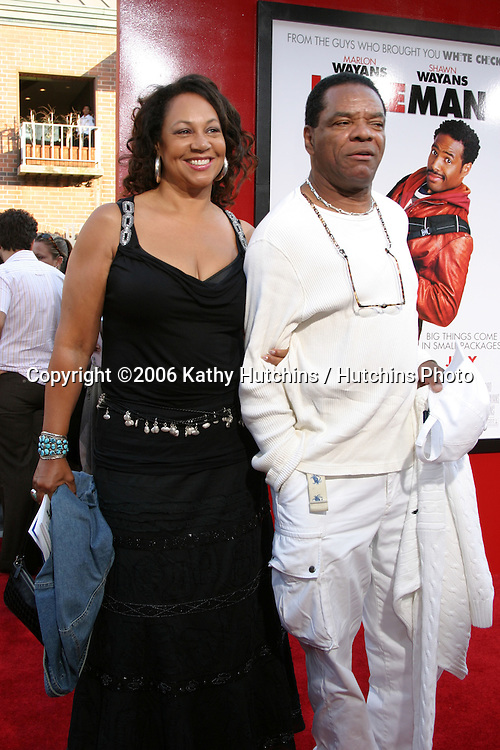 """John Witherspoon & Wife.""""Little Man"""" Premiere.Mann's National Theater.Westwood, CA.July 6, 2006.©2006 Kathy Hutchins / Hutchins Photo...."""