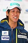 Noriaki Kasai, OCTOBER 26, 2015 - Ski Jumping : 2015/2016 SAJ Team Japan TAKE OFF Press Conference at SUBARU STAR SQUARE, Tokyo, Japan. (Photo by Shingo Ito/AFLO SPORT)