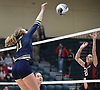 Isabella Imbo #11 of Bayport-Blue Point goes up for a spike attempt during her team's 3-1 win over Wheatley in the girls volleyball Class B Long Island Championship at Farmingdale State College on Sunday, Nov. 11, 2018.