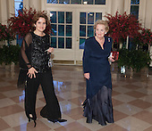 Former Secretary of State Madeleine Albright and Alice Albright arrive at the State Dinner for China's President President Xi and Madame Peng Liyuan at the White House in Washington, DC for an official State Visit Friday, September 25, 2015. Credit: Chris Kleponis / CNP