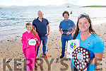Rosie Foley (front right) received the Munster Provincial Irish Long Distance Swimming Association Award for swimming sponsored by John Edwards of the Wild World Adventures in Fenit on Thursday.  <br /> Back l to r: Síofra and Pat Minogue and John Edwards (Wild World Adventures).