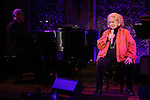 Ted Rosenthal & Barbara Cook performing a press preview at the 54 Below in New York City on 4/23/2013...