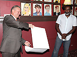 Max Kilmavicius  & Norm Lewis.attending the celebration for Norm Lewis receiving a Caricature on Sardi's Hall of Fame in New York City on 5/30/2012
