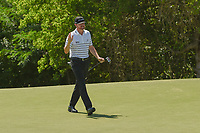 Jimmy Walker (USA) sinks his long birdie putt on 9 during round 1 of the AT&T Byron Nelson, Trinity Forest Golf Club, at Dallas, Texas, USA. 5/17/2018.<br /> Picture: Golffile | Ken Murray<br /> <br /> <br /> All photo usage must carry mandatory copyright credit (© Golffile | Ken Murray)