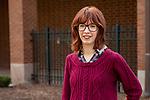 Casandra Turezyn, 2018 recipient of the Gillman Scholarship and Freeman-Asia Award, Monday, April 23, 2018, in the Lincoln Park Campus Quad. (DePaul University/Jeff Carrion)