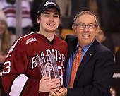 Nathan Krusko (Harvard - 13), Steve Nazro - The Harvard University Crimson defeated the Boston University Terriers 6-3 (EN) to win the 2017 Beanpot on Monday, February 13, 2017, at TD Garden in Boston, Massachusetts.