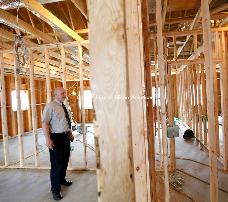 Bethlehem, CT- 06 May 2015-050615CM03- Dan Murray, CEO of Wellspring and the Arch Bridge School, shows off the new elementary school area, which is under construction in Bethlehem on Wednesday.   Christopher Massa Republican-American