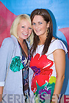 Paula O'Regan and Elaine Lynch, Tralee at the Rose of Tralee fashion show at the dome on Sunday night.