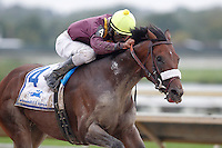 September 3, 2012. Easter Gift, ridden by Kendrick Carmouche and trained by Nick Zito, wins the grade III Smarty Jones Stakes at Parx Racing. (Joan Fairman Kanes/Eclipse Sportswire)