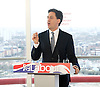 Ed Miliband <br /> Launches Labour's election campaign 2015 at The Orbit, Olympic Park, Stratford, London, Great Britain <br /> 27th March 2015 <br /> <br /> Ed Miliband <br /> <br /> <br /> <br /> Photograph by Elliott Franks <br /> Image licensed to Elliott Franks Photography Services