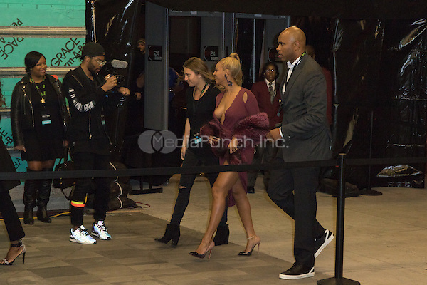 BROOKLYN, NY - OCTOBER 20: Beyonce on arrivals for TIDALx1020 Concert at Barclays Center in Brooklyn, NY on October 20, 2015. Credit: Abel Fermin/MediaPunch