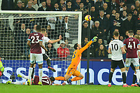 Sergio Rico of Fulham makes a finger tip save during West Ham United vs Fulham, Premier League Football at The London Stadium on 22nd February 2019