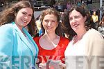 7065- 7068.SUNSHINE: Mairead Heffernan, Rachel O'Sullivan and Ann Heffernan (Abbeyfeale) taking avantage of the beautiful day at Listowel Races on Sunday..