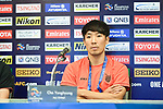 AFC Champion League 2018, Group G Jeju United Press Conference on 20 February 2018, Chang Arena, Buriram, Thailand.