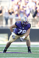 Sept 20, 2014:  Washington's Coleman Shelton  against Georgia State.  Washington defeated Georgia State 45-14 at Husky Stadium in Seattle, WA.