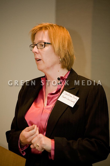 Caroline Judy, Manager of Intragovernmental Support Services, Facilities and Fleet Department, Santa Clara County. This forum entitled Strategies for a Sustainable Santa Clara County: Developing Goals and Planning Tools was held at the Silicon Valley Community Foundation (SVCF) in Mountain View, CA from 9 AM to Noon on 1/25/2008. The event was sponsored by Leagues of Women Voters of Santa Clara County and Office of County Supervisor Liz Kniss.
