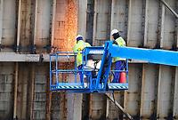 Nederland - Zaandam -  2020.  De Beatrixbrug wordt afgebroken en vervangen door een nieuwe brug. Foto Berlinda van Dam / Hollandse Hoogte