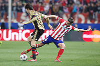 Atletico de Madrid´s Gabi (R) and Milan´s Kaka during 16th Champions League soccer match at Vicente Calderon stadium in Madrid, Spain. January 06, 2014. (ALTERPHOTOS/Victor Blanco)