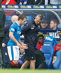 Lee Hodson limps off