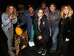 "Taylor Symone Jackson, Marie Woods, Nasia Thomas, Danielle Brooks, Dascha Polanco, Rashidra Scott, Natasha Lyonne, and Adrienne C. Moore backstage after a performance of ""Ain't Too Proud"" at the Imperial Theatre on April 11, 2019 in New York City."