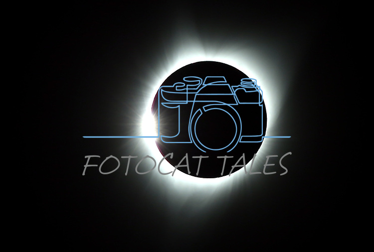 The solar eclipse in Baker City, Ore., on Monday, Aug. 21, 2017.  <br /> Photo by Cathleen Allison/Nevada Photo Source