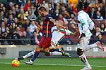 09.01.2016 Camp Nou, Barcelona, Spain. La Liga day 19 march between FC Barcelona and Granada. Arda takes s shot on goal